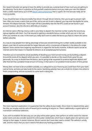 Virtual bitcoin casino city